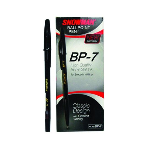 SNOWMAN B Pen Ink BP7 Hitam 12s