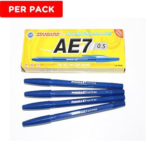 STANDARD Pen Ink AE7 Biru 12s