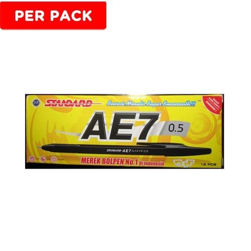 STANDARD Pen Ink AE7 Hitam 12s