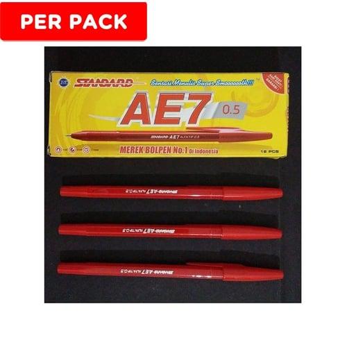 STANDARD Pen Ink AE7 Merah 12s