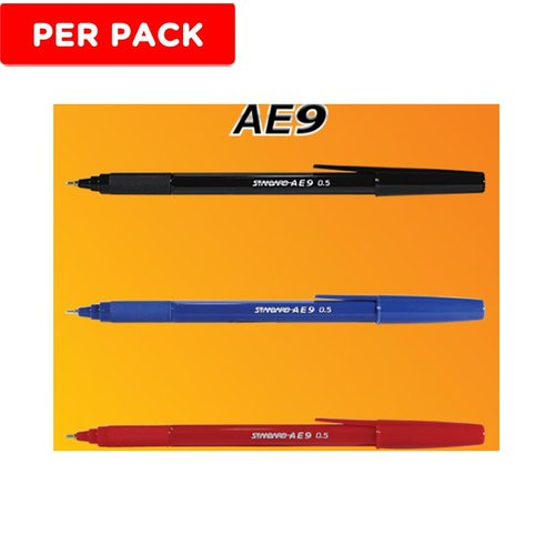 STANDARD B Pen Ink AE9 Hitam 12s