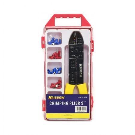 KRISBOW KW0101973 Crimping Pliers Set 9In