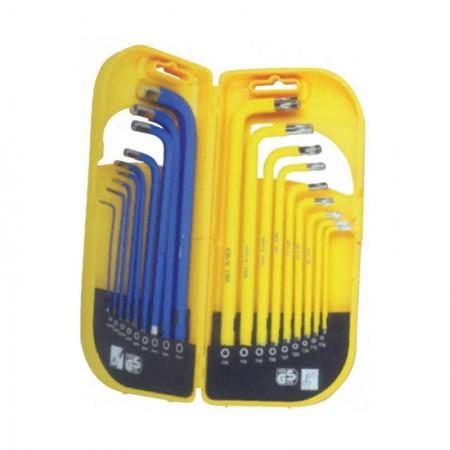 KRISBOW KW0103809 Hex Key (S) 1.5-10mm&T10-T50 (18Pcs)