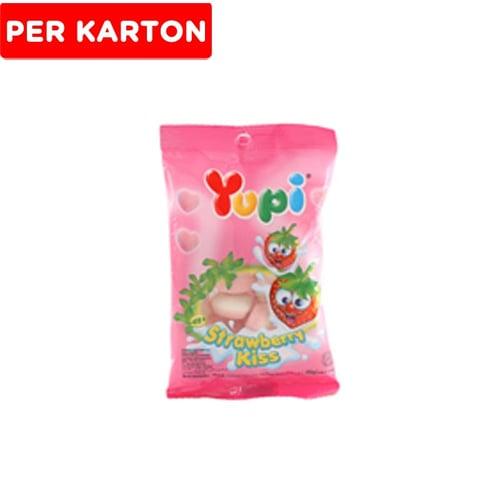 YUPI Strawberry Kiss Mini 50gr Isi 6Bag