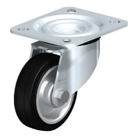 BLICKLE L-V 80R Standard Solid Rubber Tyre with Swivel Castors Type:B-V 256K