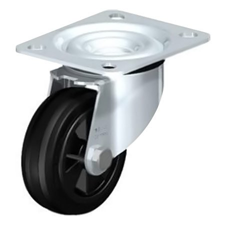 BLICKLE LE-VPP 80G Standard Solid Rubber Tyre with Swivel Castors Type:LE-VPP 150R