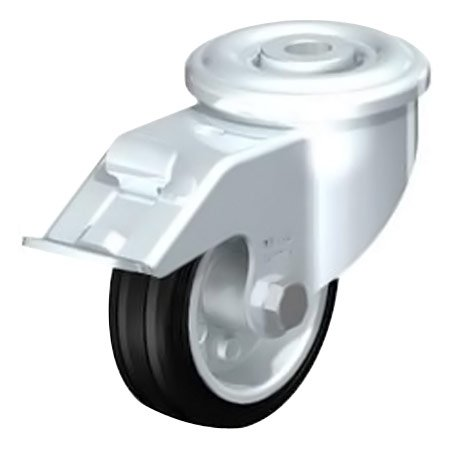 BLICKLE LER-VE 80R-FI Standard Solid Rubber Tyre with Swivel Castors Brake Type:LER-VE 200R-FI