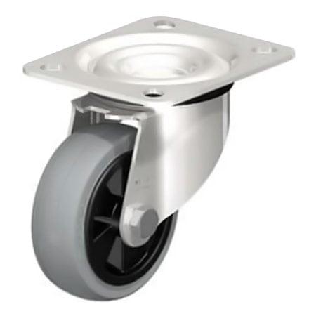 BLICKLE LEX-VPP 80G-SG Wheel with Standard Solid Rubber Tyre Swivel Castors Type:LEX-VPP 150XR-SG