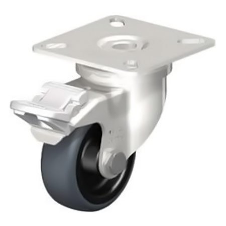 BLICKLE LPXA-TPA 50G-FI Wheel Thermoplastic Rubber Tread Swivel Castors with Brake Type:LKPXA-TPA 126KD-FI-FK
