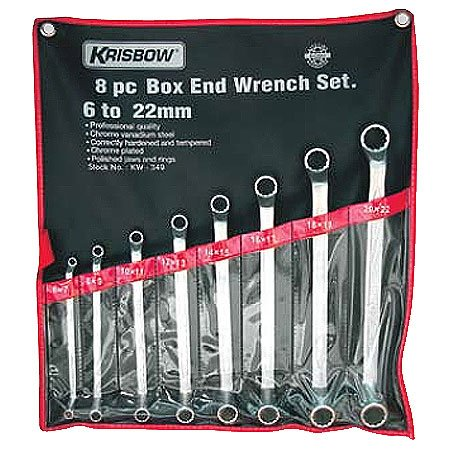 KRISBOW KW0100264 Box End Wrench St 6-32mm (12) KW-350