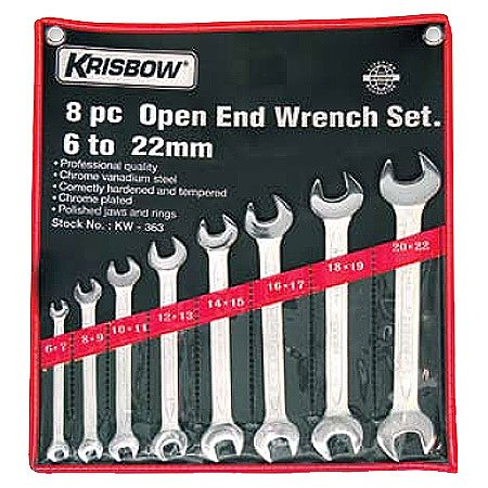 KRISBOW KW0100297 Open End Wrench Set 6-32mm(12) KW-364