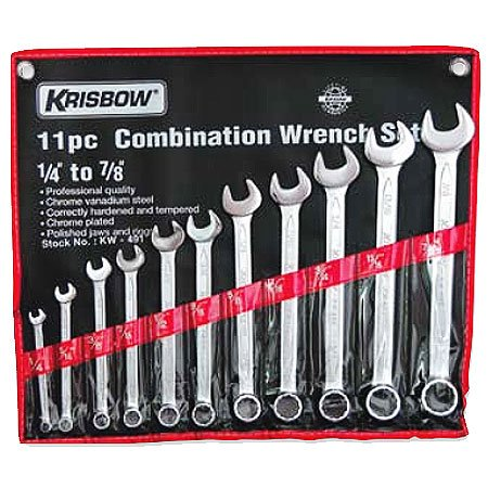 KRISBOW KW0100351 Combination Wrench 1/4-1.1/4In(16)KW-492