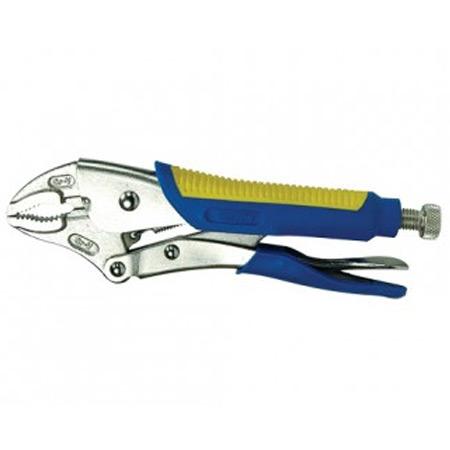 KRISBOW KW0102078 01-2078 L-Plier Curve Jaw 5 Inch Rub Handle type:KW0102079