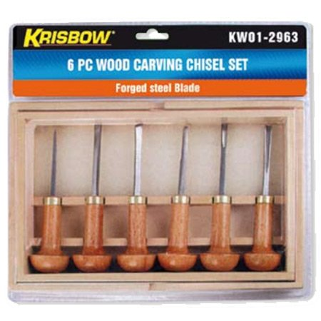 KRISBOW KW0102963 Carving Chisel Set @6Pcs type:KW0102964