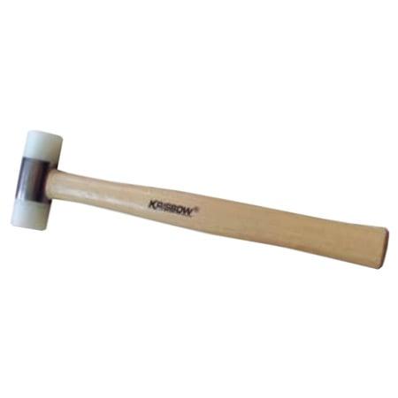 KRISBOW KW0103166 Nylon 2 Way Mallet 25MM Wood Handle type:KW0103168