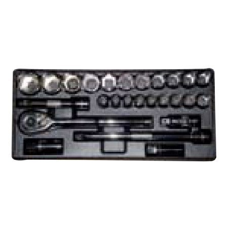 KRISBOW KW0103289 Socket Set SQ1/2 Inch with Tray @26Pcs