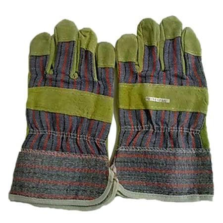 LEOPARD 0200 Combination Cotton Cow Split Leather Gloves @12 Pair