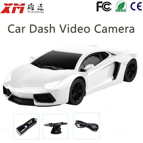 Berlian Improvement 720P Full HD Car Dash Security Camera Vehicle Auto Video Recorder Car DVR Camera Car Model Design White Night Vision XM