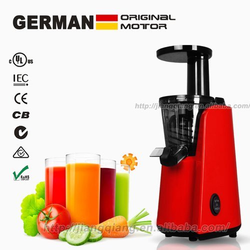 Berlian Improvement GERMAN Motor Technology 150-Watt orange juice Fountain and slow juicer Extractor with Space Saving Design, Red Single Gear