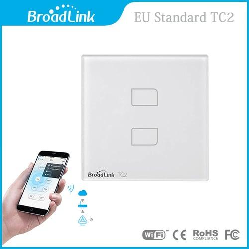 BROADLINK New Arrival EU 2 Gang Remote Control TC2-EU02