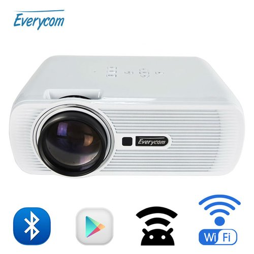 EVERYCOM Android Wifi Projector 1800 Lumens AC3 X7