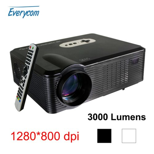 EVERYCOM Home LED TV Game Projector 3000 Lumens CL720D