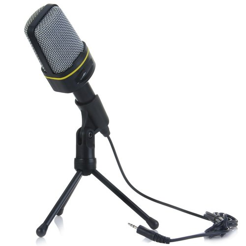 Excelvan Professional Condenser Sound Wired Microphone Microfone with Stand Holder Clip for Chatting Singing Karaoke PC Laptop Gooseneck Microphone