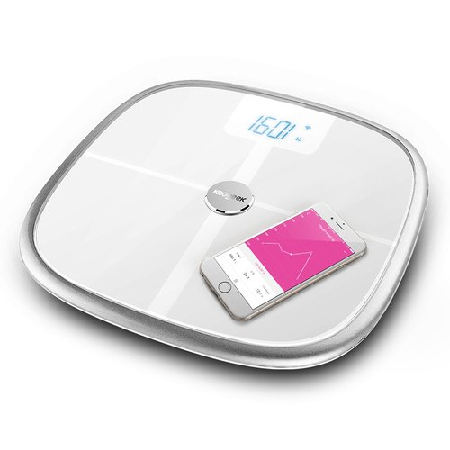 Koogeek Bluetooth 4.0 Smart Health Weight Scale Measure Muscle Bone Mass BMI BMR Intelligent Body Scale for iPhone 6 IOS Android Bluetooth WiFi Smart Scales