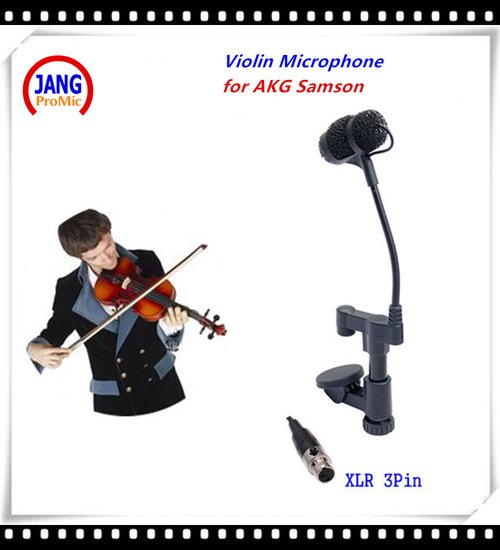 Ovann Professional Instrument Violin Microphone Mandolin Viola Mikrofone for AKG Samson Wireless System Transmitter XLR 3Pin Microfon LT-VLD3C