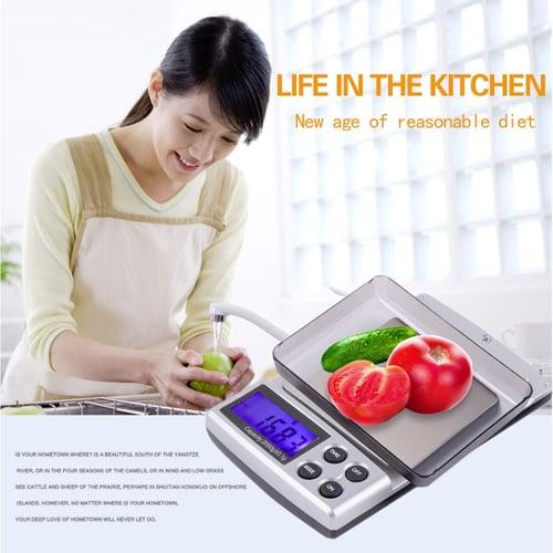 Raksasa Elektronik 2000g x 0.1g Pocket Electronic Digital Jewelry Scales Weighing Kitchen Scales Balance 32473818571