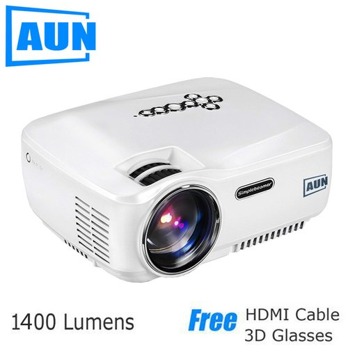 AUN Projector LED Projector 1400 Lumens AM01C