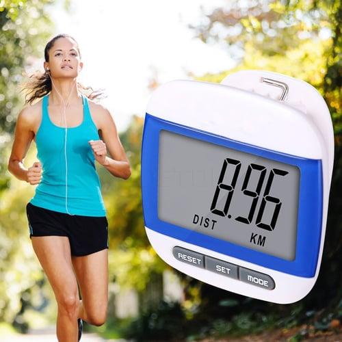 Raksasa Elektronik Multiple Colors Waterproof Step Counting Movement Calories Digital Pedometer Multi-Function LCD Pedometer KBT001681