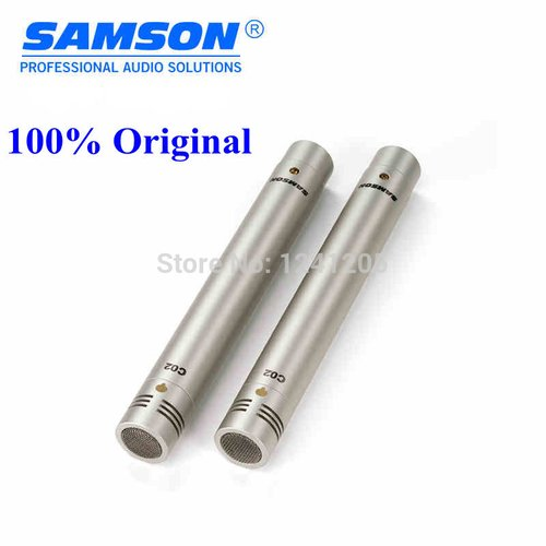 Pair Samson c02 small diaphragm condenser microphone piano percusses stereo music pick up microphone pencil type for recording Handheld Microphone C02