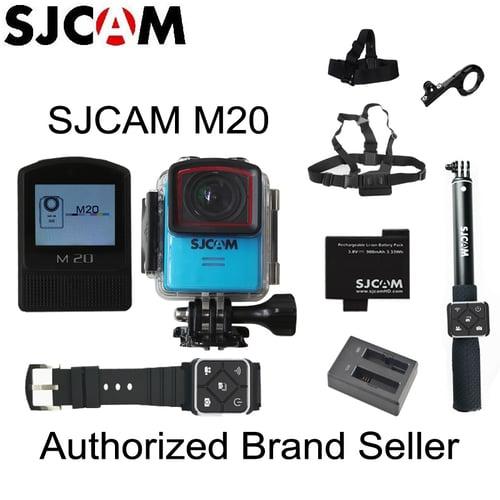 Original SJCAM M20 Gyro Mini Action Helmet Sports DV Camera 30M Waterproof 4K 24fps 2K 30fps NTK96660 16MP With RAW Format M20