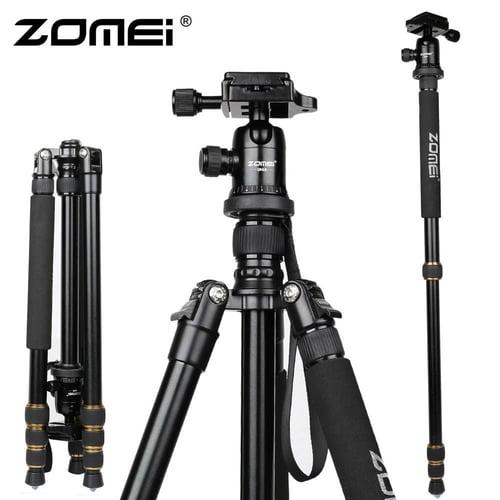 ZOMEI Zomei Z688 Aluminum Professional Tripod Monopod + Ball Head For DSLR camera Portable / SLR Camera stand / Better than Q666 Z688 tripod