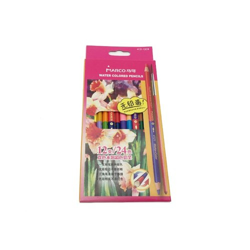MARCO Water Color Pencil 24 Colors 12pcs/set